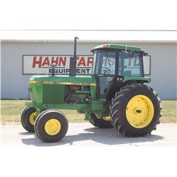 JD 4240 2wd tractor, cab, air, quad, 18.4x38, 2 remotes, 6551 hrs