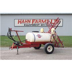 Hardi TR300 single axle sprayer, 45' boom, diaphram pump