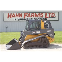 2010 JD 323D track skidsteer, cab, air, 2 speed, hyd. QT, 1920 hrs