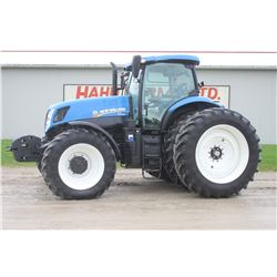 2015 NH T7.245 4wd tractor, cab, air, front suspension, 50K powershift, front weights, auto guidance