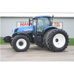 2014 NH T7.260 4wd tractor, cab, air, 650 65R42 axle duals, front suspension, cab supension, 50K pow