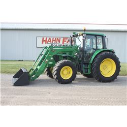 2012 JD 6330 4wd tractor, cab, air, H310 SL loader, 3rd function valve, 24 speed power quad, 3 remot