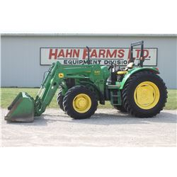 2002 JD 6120 4wd tractor, 640SL loader, rops, powerquad, left hand shuttle, 18.4x38, 2265 hrs