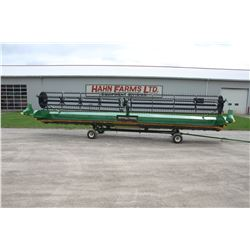 2013 JD 640FD 40' flex draper head, double drive fine cut knife, Contour sensing , recent updates