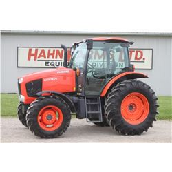 2014 Kubota M110GX 4wd tractor, cab, air, powershift, 18.4R34, 2 remotes, very nice, 419 hrs