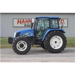 2012 NH T5050 Deluxe 4wd tractor, cab, air, 18.4x34, 2 remotes, loader ready, joystick, 1258 hrs