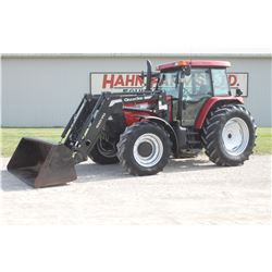 2004 CIH MXM 120 4wd tractor, cab, air, powershift, Alo Q10.70 loader, 18.4x38, 2 remotes, 4898 hrs