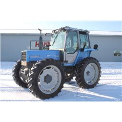 Landini 8880 4wd tractor, cab, air, hi crop, creeper, 13.6x38, 3 remotes, very clean, 8092 hrs