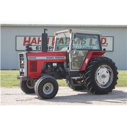 MF 3505 2wd tractor, cab, air, shuttle, 18.4x38, 2 remotes, 5600 hrs