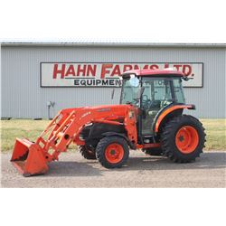 Kubota L4740 4wd compact tractor cab, air, LA854 loader, Hydro , 1027 hrs