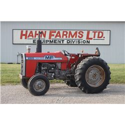 MF 265 2wd tractor, 16.9x30, 8 speed, 1 remote