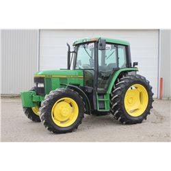 JD 6300 4wd tractor, cab, air, powerquad, Trimble FM-750 guidance system with steering motor and glo