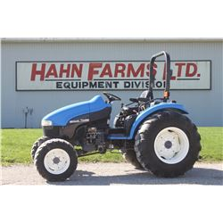 2002 NH TC 45D 4wd compact tractor, rops, hydro, loader ready, 1232 hrs