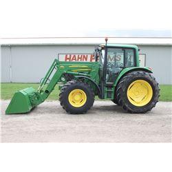 2008 JD 6430 Premium 4wd tractor, cab, air, 673 SL loader, 24 speed power quad, hyd. disconnect buck
