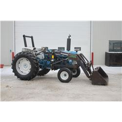 Ford 7610 II 2wd tractor, rops, 8 speed, 16.9x34, Reist loader, 3727 hrs