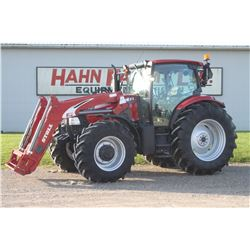 2013 CIH 125 Maxxum 4wd tractor, cab, air, powershift, 3 remotes, 20.8x38, Stoll FZ 50 SL loader, 17