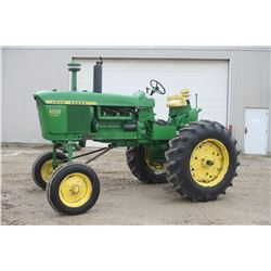 JD 4020 2wd tractor, high crop, diesel, 18.4x34, collector