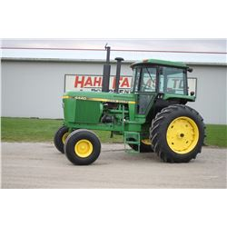 JD 4440 2wd tractor, cab, air, quad, 18.4x38, 2 remotes, 6706 hrs