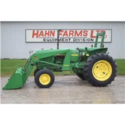 JD 2350 2wd tractor, rops, 145 loader, 16.9x30, 2930 hrs, 1 remote