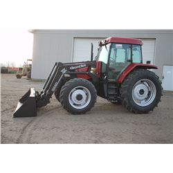CIH MX90C 4wd tractor, cab, air, Alo 720 loader, powershift LH shuttle, 18.4x38, 2 remotes, 2521 hrs