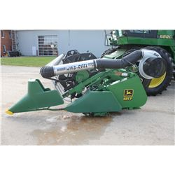 "JD 925F 25' flex head, Full finger auger, AWS air reel, 3"" knife, very good"