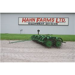JD 4 section rotary hoe