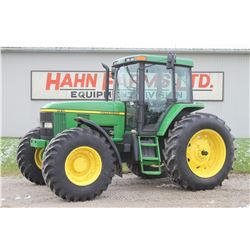 2000 JD 7410 4wd tractor, cab, air, 16 speed power quad, 18.4x38, 2 remotes, 5983 hrs
