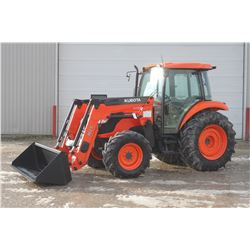 Kubota M7040 4wd tractor, cab, air, M25 loader, hyd. shuttle, 18.4x30, 5475 hrs