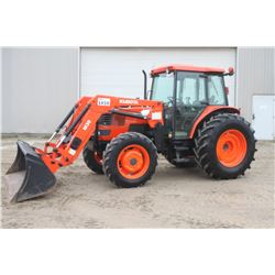 Kubota M9000 4wd tractor, cab, air, M30 loader, hyd. shuttle, 18.4x30, 3 remotes
