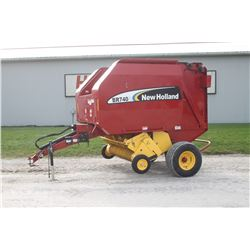 2007 NH BR740A round baler, 5x4, low acres