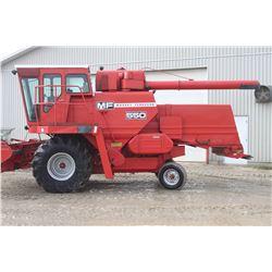 MF 550 2wd combine, cab, air, diesel, chopper