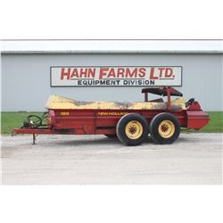 NH 185 tandem axle manure spreader, slush guard, double beater, end gate, hyd. drive