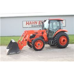 2016 Kubota M6060 4wd tractor, cab, air, LA 1154 loader, hyd. shuttle, 16.9x28, rear weights, 2 remo