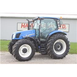 2016 NH T6.140 4wd tractor, cab, air, Electroshift, 18.4R38, 2 remotes, 348 hrs