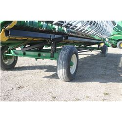 Horst 25' header carrier wagon, 4-wheel steer, local trade