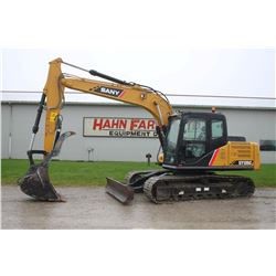 2017 Sany 135C excavator, cab, air, hyd. thumb, dozer blade, 1655 hrs