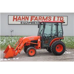 2011 Kubota B3030 4wd compact tractor, cab, air, loader, hydro, rear hyd., 452 hrs
