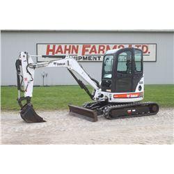 2006 Bobcat 430 ZHS mini excavator, cab, air, extendahoe, 2 speed, front dozer blade, 1379 hrs
