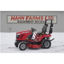"MF GC2400 4wd compact tractor, 60"" mower deck, 465 hrs"