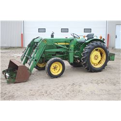 JD 950 2wd compact tractor, 75 loader, diesel, 730 hrs