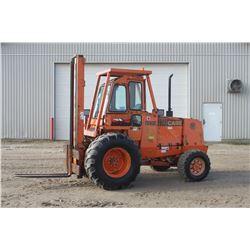 Case 586E4wd forklift, cab, side shift, 6,000 lb capacity, cummins diesel, Municipal unit