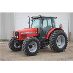 MF 4255 4wd tractor, cab, air, 18.4x34, 2 remotes, 12x12 power shuttle, one owner, 3894 hrs