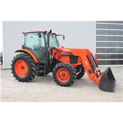 2014 Kubota M110 GX 4wd tractor, cab, air,  M41 loader, 18.4x34, 2 remotes, powershift with hyd. shu