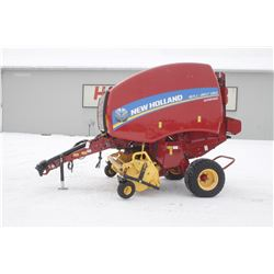 2014 NH 450 super feed round baler, net wrap, drop floor 1.8M pick up, 1037 bales, very clean