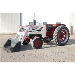 IH 584 2wd tractor, Dunham loader, bar axle, 2350 original hrs, one owner