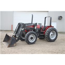 CIH 4210 4wd tractor, rops, Quickie 620 loader, shuttle, 16.9x30, 1 remote, 1590 hrs