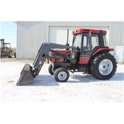 CIH 595 2wd tractor, cab, air, Allied 594 loader, 2650 hrs