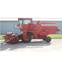 MF 300 combine, gas with 1859, 12' ridgid grain head