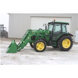 2012 JD 5085M 4wd tractor, cab, air, H260 SL loader, power reverser, 2 remotes, 751 hrs