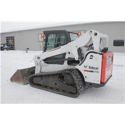 2013 Bobcat T770 track skidsteer, cab, air, 2 speed, high flow hyd., hyd. QT, selectable joystick, 3